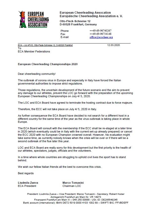 ECA Letter